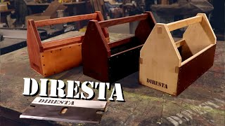 DiResta Leather & Wood Tool Totes
