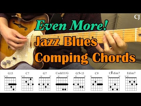 Even More! Jazz Blues Comping Chords (With Chord Boxes) - Guitar Lesson