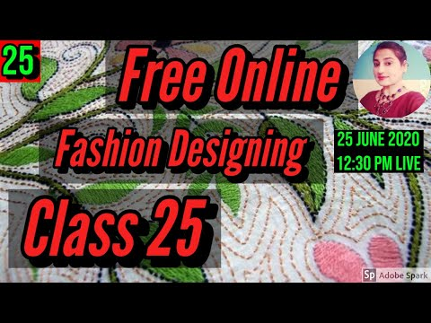 Free Fashion Designing Online Courses With Certificate Class 25 ...