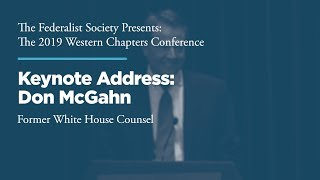 Click to play: Lunch Address by Don McGahn