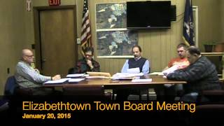 preview picture of video 'Elizabethtown, NY January 20, 2015 Town Board Meeting'