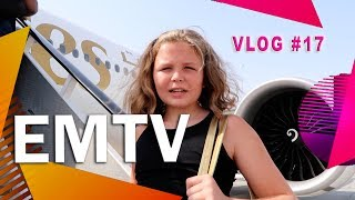 EMTV Vlog#17 - Emirates Flight from Dubai to Hamburg Germany
