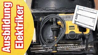 Elektrowerkzeug Unterweisung | Maschinenpflege | Maschinenwartung | Ausbildung zum Elektroniker #1