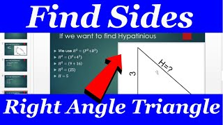 Finding Sides Right Angle Triangle