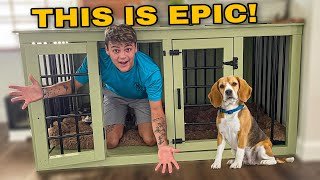 BUILDING *NEW* CUSTOM DOG HOUSE for My PUPPIES!!