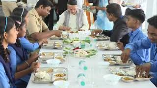 Governor visited Government Secondary Ashram Shala at Navli, tq Nawapur dist Nandurbar;?>