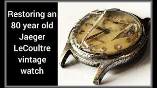 Restoration vintage jaeger lecoultre p469/a service nickel plating watch radium hands relume