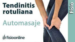 Automasaje para la tendinitis rotuliana o del tendón rotuliano