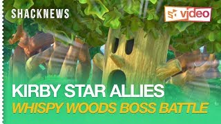 Kirby Star Allies Gameplay - Whispy Woods Boss Battle
