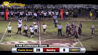 Prairie Grove (35) vs Gentry (14) 2013