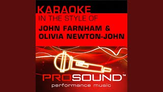 Dare To Dream (Karaoke Lead Vocal Demo) (In the style of John Farnham and Olivia Newton-John)