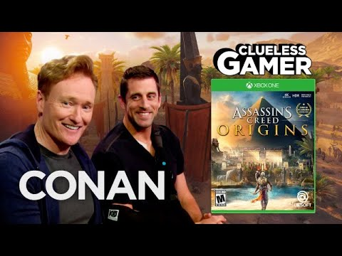 Conan hraje hru Assassin's Creed: Origins