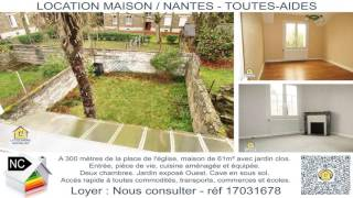 17031678 Location maison sur Nantes Toutes-Aides