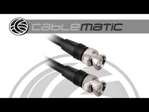 Cable coaxial BNC 6G HD SDI macho a macho de alta calidad - distribuido por CABLEMATIC ®