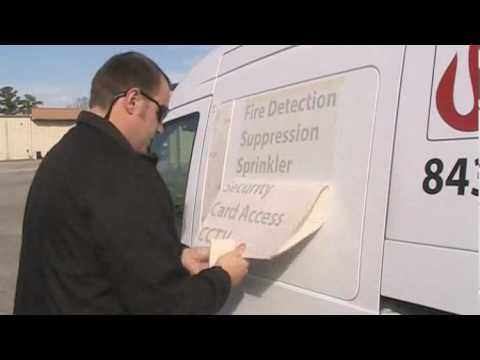 How to Apply Vinyl Letters and Graphics to a Van Part 2-7:46min