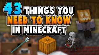 43 Things You NEED To Know About Survival Minecraft