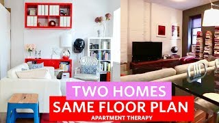 Two 500 SQ FT West Village Homes | Two Homes, Same Floor Plan | Apartment Therapy