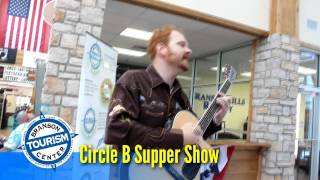 Circle B Supper Show visits Branson Tourism Center Video
