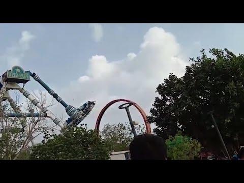 Pendulum ride collapses in Ahmedabad 's  amusement park ; 2 killed, 27 injured
