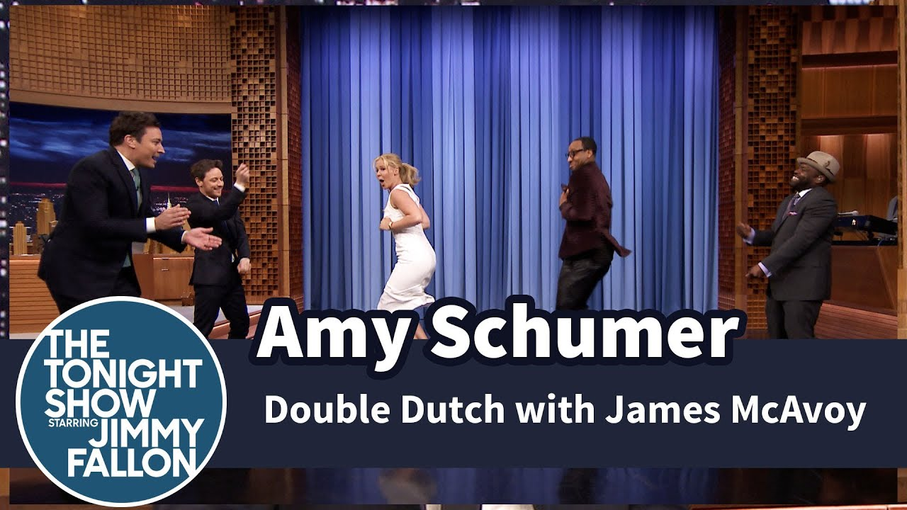Amy Schumer Plays Double Dutch with Jimmy, James McAvoy and The Roots thumbnail