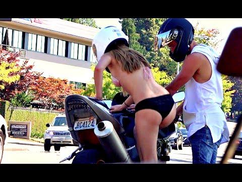 CRUISER MOTORCYCLE V.S. SPORT BIKE? SOCIAL EXPERIMENT/PRANK!