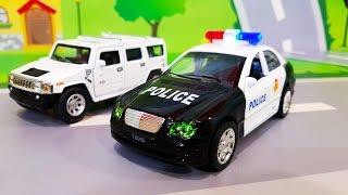 Мультики про машинки. Полицейская машина в мультике - смелый Валера. Лего Мультфильмы для детей