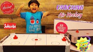 Table Top Mini Air Hockey - Unboxing  Air hockey for kids, Kids Air hockey  review. Rowan air hockey