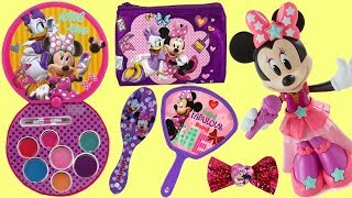 Minnie Mouse Hair Accessories & Cosmetic Set: Bows, Nail Polish, Lip Gloss, Purse