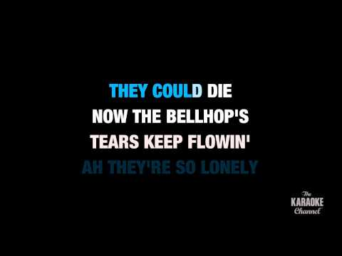 "Heartbreak Hotel in the Style of ""Elvis Presley"" karaoke video with lyrics (no lead vocal)"