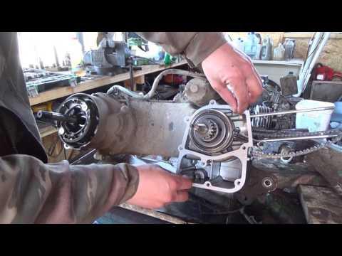 ремонт двигателя китайского скутера 139qmb