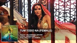 'Tum Todo Na (Female)' FULL AUDIO Song 'I'
