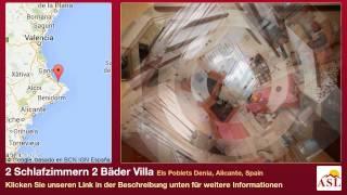 preview picture of video '2 Schlafzimmern 2 Bäder Villa zu verkaufen in Els Poblets Denia, Alicante, Spain'
