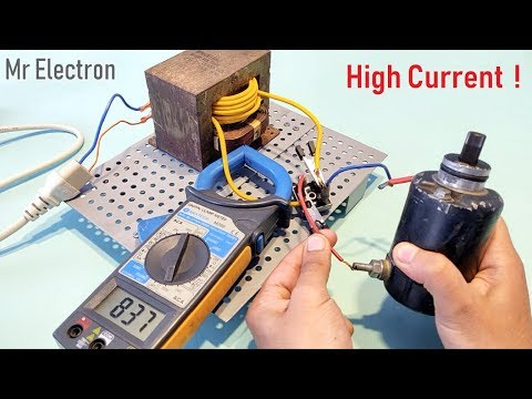 12V 100A DC from 220V AC for High Current DC Motor using Old Microwave Oven Transformer - Part 2