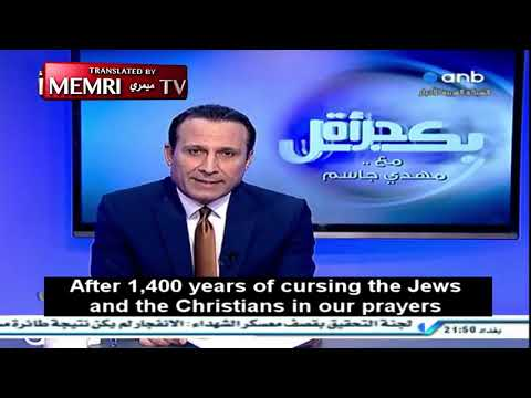 Iraqi TV host reading a powerful poem calling for an embracing of modern ideals and ideas in the arab world.