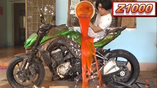 Wash Z1000 with Chili Sauce 😂