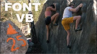 Can Tom flash a VB slab? | More low grade gems in Font by Bouldering DabRats