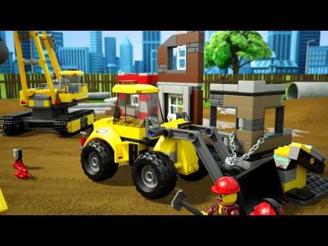 Vidéo LEGO City 60076 : Le chantier de démolition