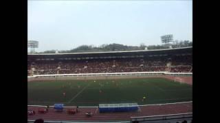 金日成競技場のサッカー試合