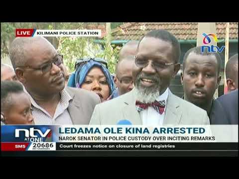 Senator Ledama ole Kina's lawyer talks tough following his arrest
