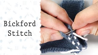 Bickford Stitch  | How to sew the seams in knitting