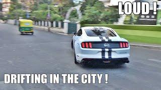 MUSTANG GT DRIFTING IN INDIA (Powerslide) - Loud Corsa Exhaust