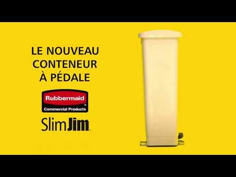 Collecteur à pédale Slim Jim® - RUBBERMAID
