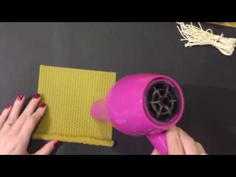 Como hacer velas de cera de abeja