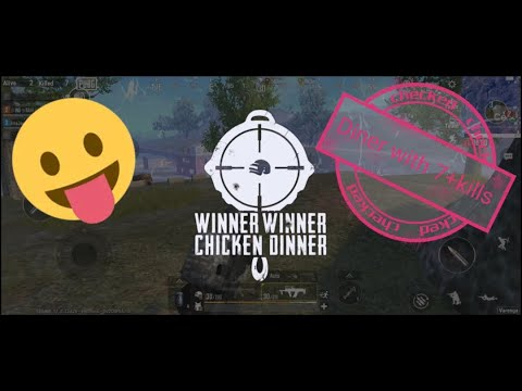 Chicken for dinner in pubg lite with my little player
