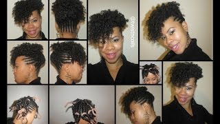 ♡ TnC - 20 ♡ Braided Curly Frohawk/Mohawk On Natural Hair