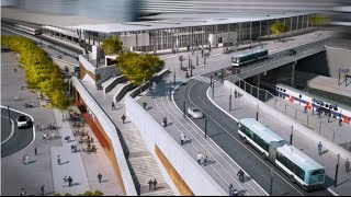 preview picture of video 'Les étapes de construction de la nouvelle gare Nanterre Université'