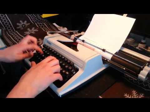 Schreibmaschine Erika 127 - Funktionsdemonstration