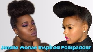 JANELLE MONAE INSPIRED POMPADOUR | PROTECTIVE HAIRSTYLE