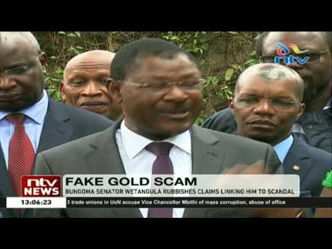 'Non issue': Moses Wetangula rubbishes fake gold scam claims