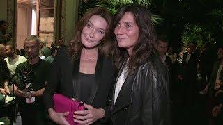 Carla Bruni, Baptiste Giabiconi, Emmanuelle Alt And More Front Row Of Balmain Fashion Show In Paris